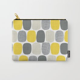 Wonky Ovals in Yellow Carry-All Pouch
