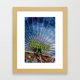 Ferris wheel at the funfair Framed Art Print