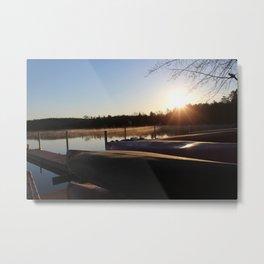 Sunrise over Canoes Metal Print