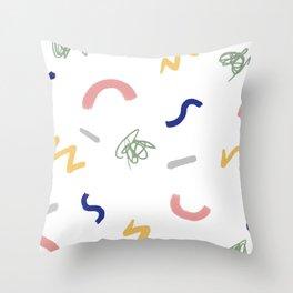Trueno y hierba Throw Pillow
