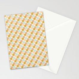 Elegant Mustard Aqua Pink Pattern Stationery Cards