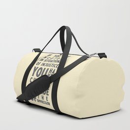 If you are neutral in situations of injustice, Desmond Tutu quote, civil rights, peace, freedom Duffle Bag