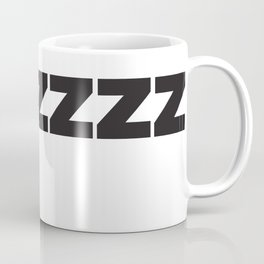 ZZZZZZ Black on White Coffee Mug