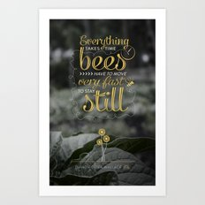David Foster Wallace on Bees  Art Print