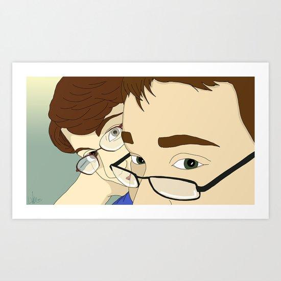 Jack & Angela Art Print