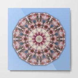 Spring blossoms, Flower Mandala, Floral mandala-style Metal Print