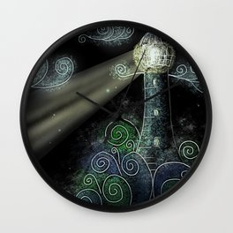 Beacon in the Night Wall Clock