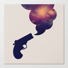 Cloudy Gun Canvas Print