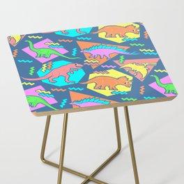 Nineties Dinosaur Pattern Side Table
