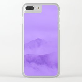 Lilac Fog Surrounding Anchorage Mountains Clear iPhone Case
