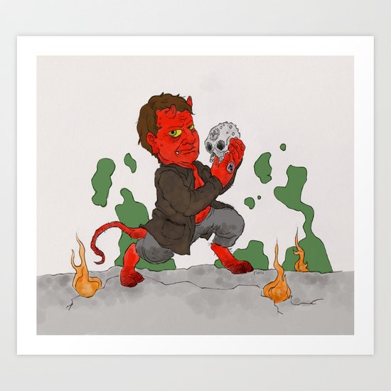 """Hell in a Handbasket"" by Virginia McCarthy Art Print"