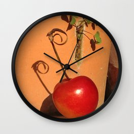 Cherry Spiral Wall Clock