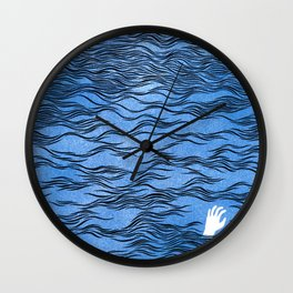 Man & Nature - The Dangerous Sea Wall Clock