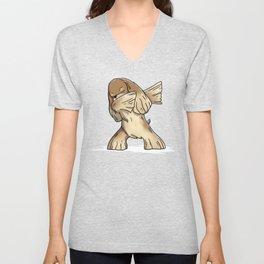 Funny Dabbing Cocker Spaniel Dog Dab Dance Unisex V-Neck