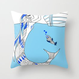 Pisces / 12 Signs of the Zodiac Throw Pillow