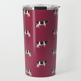 Holsteins // Cranberry II Travel Mug