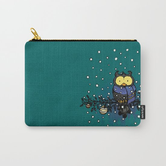 Owl in the snow Carry-All Pouch