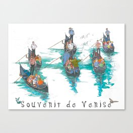 """Venice """"Gondola serenade"""" Canvas Print"""