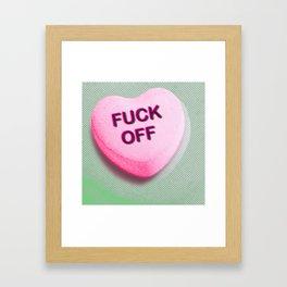 Heart Series Love Candy Hearts Framed Art Print