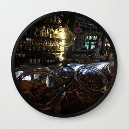 Breakfast In A Bar Wall Clock