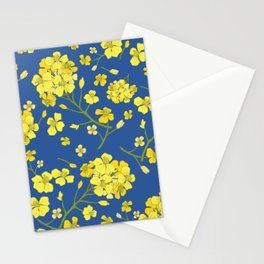 Floral Love of Mustard Stationery Cards