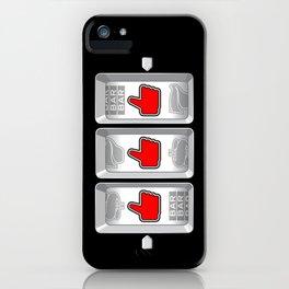 Jackpot / Slot machine hitting three thumbs up iPhone Case