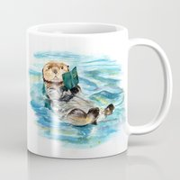 otter Mugs featuring Otter by Anna Shell