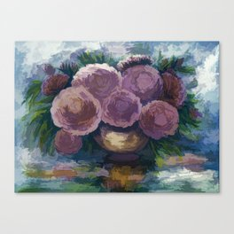 Just For You Pink Toned Roses Canvas Print