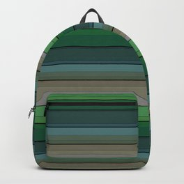 Striped green-gray pattern Backpack