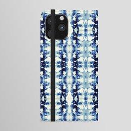 Tie Dye Blues iPhone Wallet Case