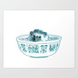 Hedgehog Hot Tub #2 Art Print