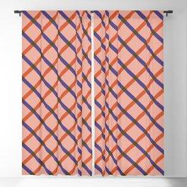Bright Modern Grid Blackout Curtain