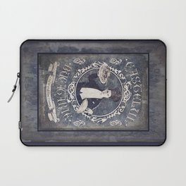 """Chef Dracula's Restaurant: """"Every BITE Guaranteed to ENTHRALL"""" (Old Metal Sign) Laptop Sleeve"""