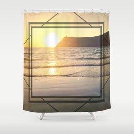 Port Erin - square diamond graphic Shower Curtain