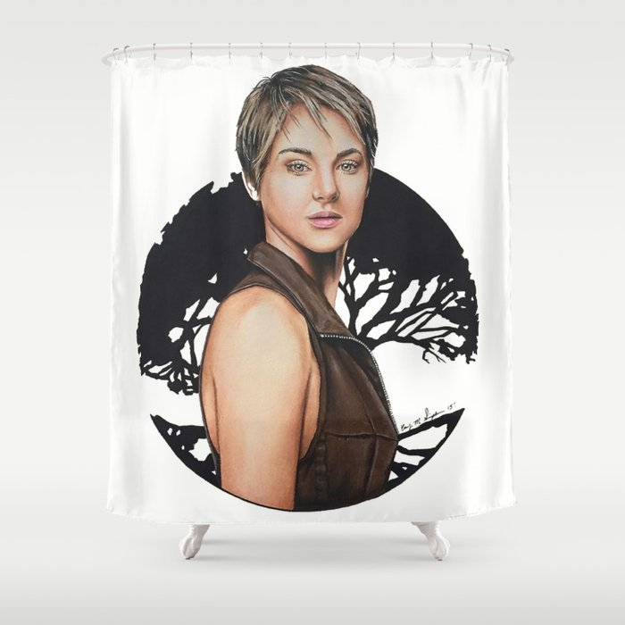 The Divergent Series: Insurgent - Tris   Drawing Shower Curtain