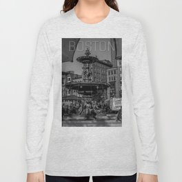 A Gleam of Sunshine - Boston Common Fountain Long Sleeve T-shirt