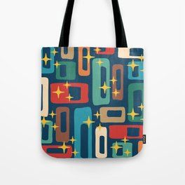 Retro Mid Century Modern Abstract Pattern 221 Tote Bag