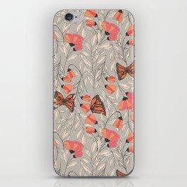 Monarch garden 001 iPhone Skin