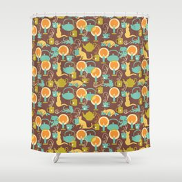Cozy cat hygge Shower Curtain