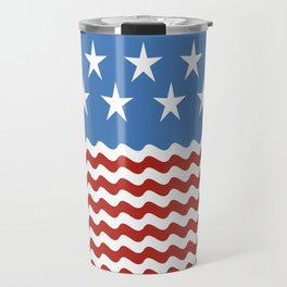 Patriotic Wave Travel Mug