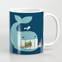 teeth Mugs featuring Brush Your Teeth by Picomodi