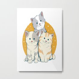 cat family Metal Print
