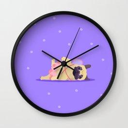 Looking Like a Princess Pug Wall Clock