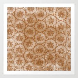 Indian tie dye brown textured pattern  Art Print