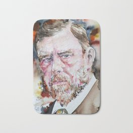 BRAM STOKER - watercolor portrait Bath Mat