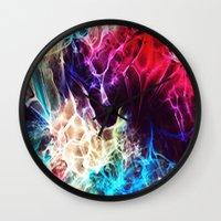 random Wall Clocks featuring random by new art