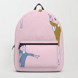 Gymnasts on pink Backpack