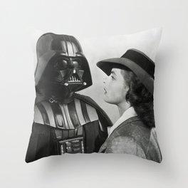 Darth Vader in Casablanca Throw Pillow