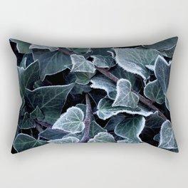 Hoarfrost Ivy Leaves Rectangular Pillow