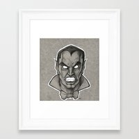 dracula Framed Art Prints featuring Dracula by Jamile B. Johnson